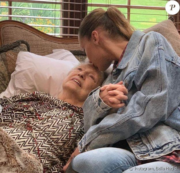Bella Hadid et sa grand-mère, Ans van den Herik. Photo publiée le 31 août 2019.