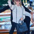 Meryl Streep arrive à l'hôtel Excelsior en marge du 76e festival du film de Venise, la Mostra, sur le Lido de Venise, Italie, le 1er septembre 2019.