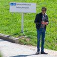 Exclusif - Anthony Delon a rendu visite à son père Alain Delon en convalescence à la clinique de Genolier en Suisse le 24 août 2019.