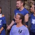 Jeanfi Janssens, Tal,  Isabelle Vitari et Lenni-Kim l ors de leur passage dans Fort Boyard, diffusé sur France 2 le 1er septembre 2018.