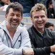 Jeanfi Janssens et Stéphane Plaza - Célébrités dans les tribunes des internationaux de France de tennis de Roland Garros à Paris, France, le 7 juin 2019. © Cyril Moreau/Bestimage
