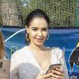 Exclusif - Nabilla Vergara, enceinte, en week end à Monaco, a fait un passage fort remarqué au Championnat du pur-sang arabe de la Méditerranée et des pays arabes au stade Rondelli à Menton le 23 juin 2019. © Patrick Varotto / Bestimage
