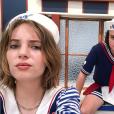 Maya Hawke et Joe Keery sur le tournage de la saison 3 de Stranger Things, Instagram, le 17 juillet 2018.