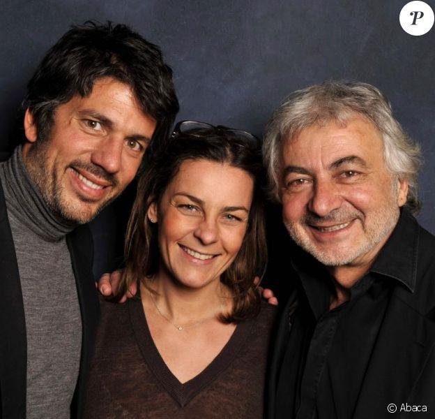 Franck Provost et ses enfants Olivia et Fabien