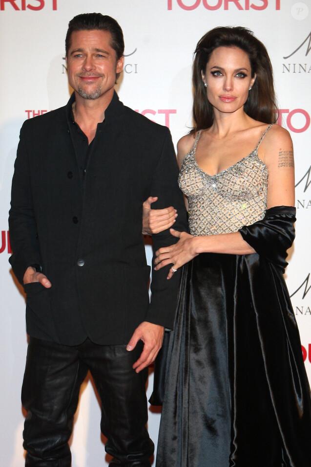 Angelina Jolie et Brad Pitt en 2010 à Madrid.
