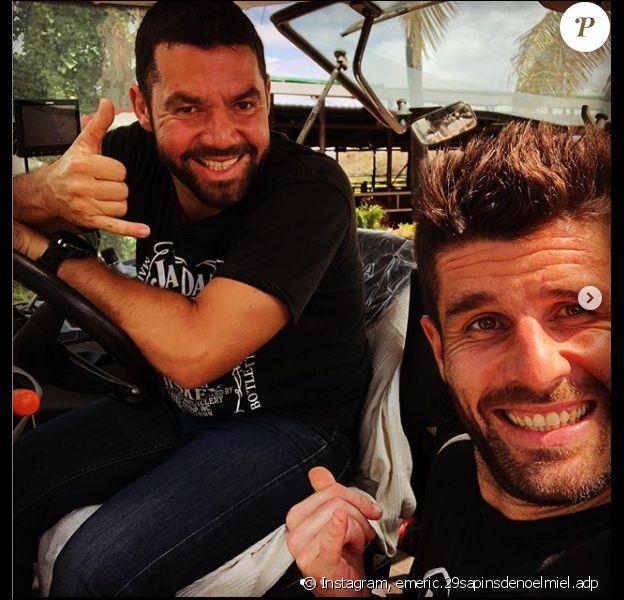 Émeric et Raoul, les deux anciens candidats de L'Amour est dans le pré, se retrouvent sur l'île de la Réunion, sur Instagram, le 12 septembre 2019.