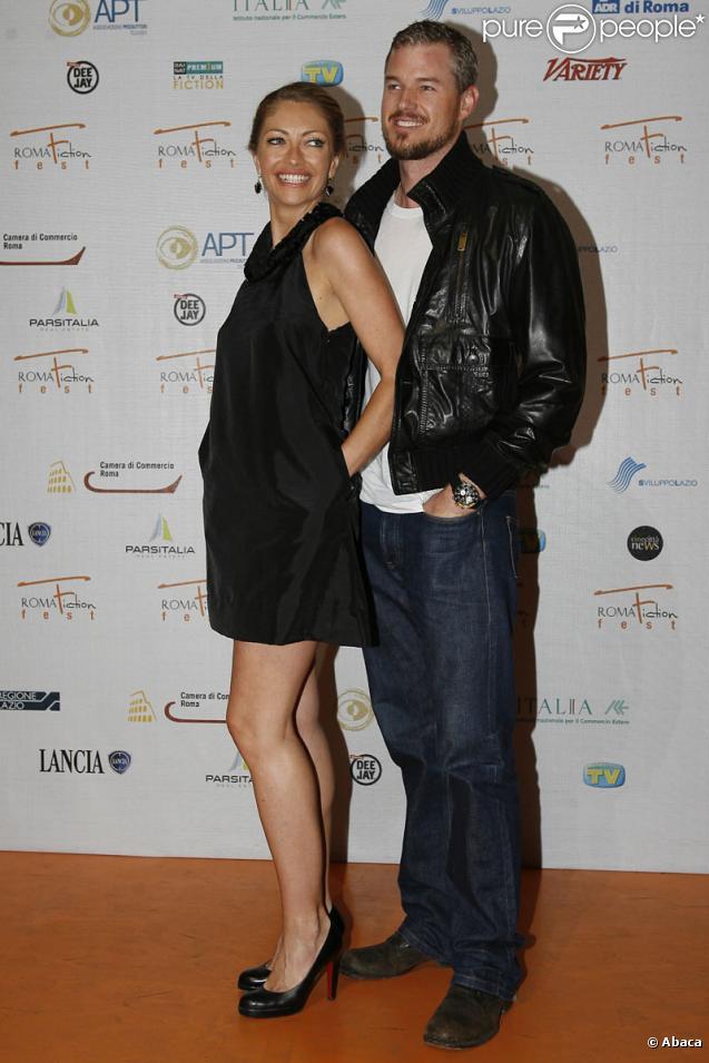 Eric Dane et Rebecca Gayheart lors du festival de la fiction télévisée à Rome le 8 juillet 2009