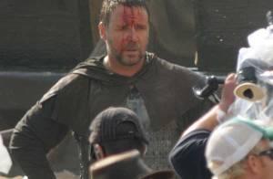 La star Russell Crowe le visage en sang... sur le tournage de