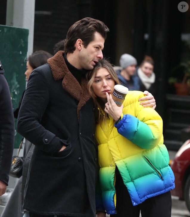 Mark Ronson et Rebecca Schwartz en couple dans le quartier de Soho à New York en février 2019