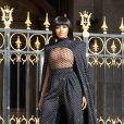 Kat Graham assiste au défilé Balmain, collection prêt-à-porter printemps-été 2020, à l'Opéra Garnier. Paris, le 27 septembre 2019.