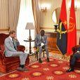 Le prince Harry, duc de Sussex - Audience avec le président João Lourenço au palais présidentiel de Luanda, en Angola, le sixième jour de la tournée royale en Afrique. Luanda, le 28 septembre 2019.