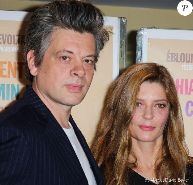 """Benjamin Biolay et Chiara Mastroianni à la première du film """"Chambre 212"""", au cinéma UGC Les Halles de Paris. Le 30 septembre 2019. @David Boyer/ABACAPRESS.COM"""