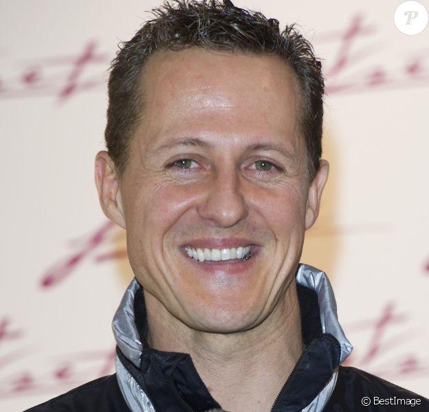 Michael Schumacher en conférence de presse à Munich en Allemagne le 6 février 2012.