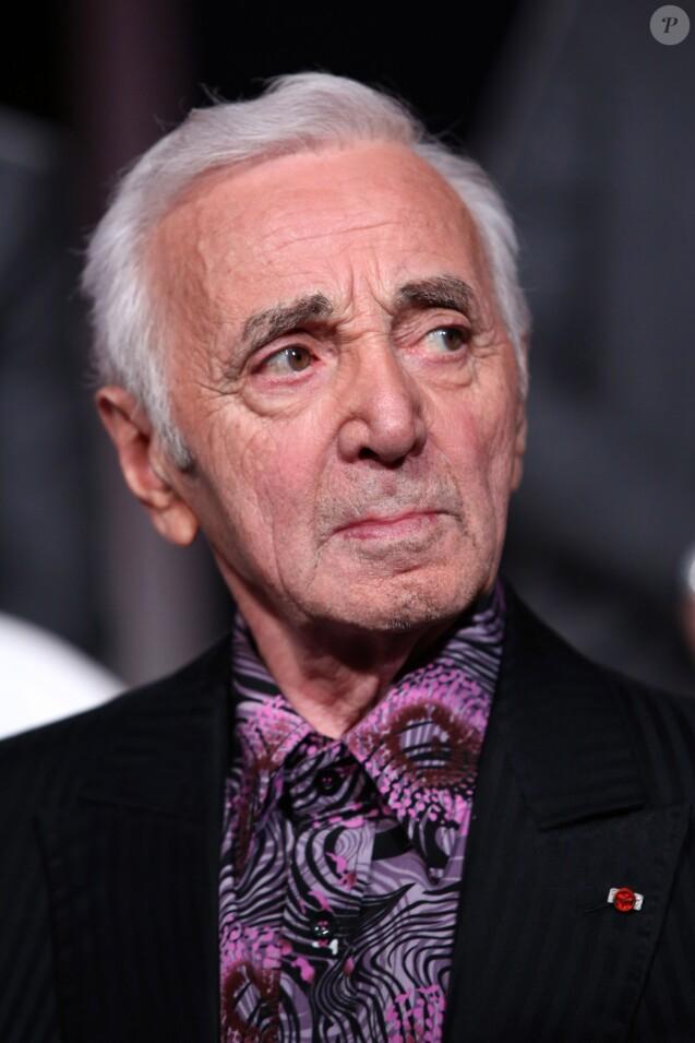 """Exclusif - Charles Aznavour - Enregistrement de l'émission """"Hier Encore"""" à l'Olympia, qui sera diffusée en prime time sur France 2 le 17 janvier 2015"""