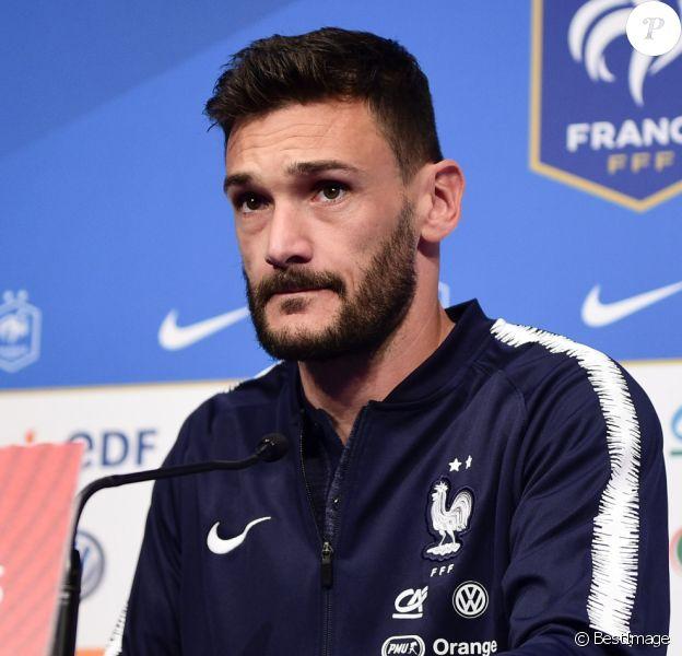 Hugo Lloris - Conférence de presse de l'équipe de France à Saint Denis, le 6 septembre 2019.