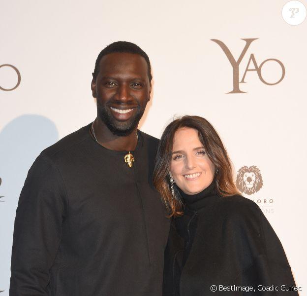 """Omar Sy et sa compagne Hélène - Avant-première du film """"Yao"""" au cinéma Le Grand Rex à Paris le 15 janvier 2019. © Coadic Guirec/Bestimage"""