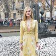 """Elle Fanning - Arrivées au défilé de mode Prêt-à-Porter automne-hiver 2019/2020 """"Miu Miu"""" à Paris. Le 5 mars 2019 © Veeren-CVS / Bestimage"""