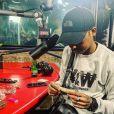 Le rappeur Guizmo sur Instagram @guizmolabanquise- De passage dans Planète Rap (Skyrock)en juillet 2019.