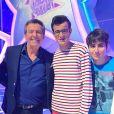 """Jean-Luc Reichmann avec Paul et sa famille, dans """"Les 12 Coups de midi"""", le 22 mai 2019"""