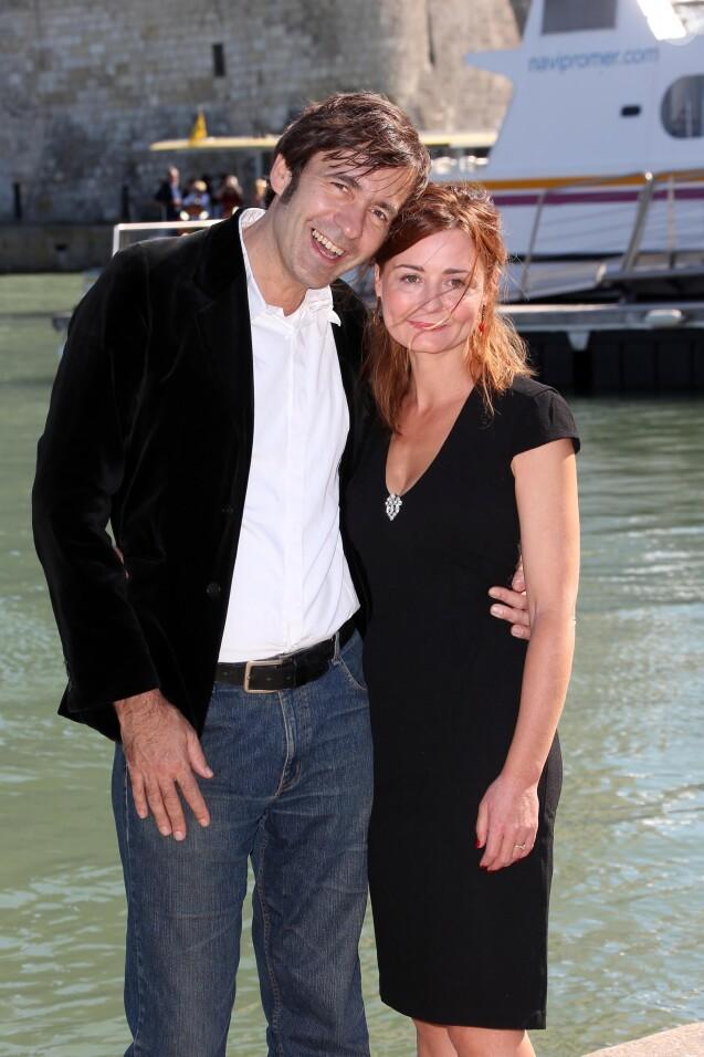 Christelle Reboul et Thierry Samitier au 14e Festival de la fiction TV de la Rochelle, le 15 septembre 2012