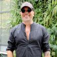 """Pascal Obispo arrive à l'enregistrement de l'émission """"Vivement Dimanche Prochain"""" au studio Gabriel à Paris, France, le 28 août 2019."""