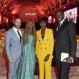 """Exclusif - Nadège Beausson-Diagne et son mari Geoffroy Jeff Tekeyan, Rama Yade et Sylvère-Henry Cissé assistent à la soirée de gala de l'AMREF """"Les femmes au coeur de la santé en Afrique"""" au Pavillon Cambon Capucines à Paris, le 15 octobre 2019."""