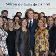 """Exclusif - Mireille Faugère et J-C Decaux assistent à la soirée de gala de l'AMREF """"Les femmes au coeur de la santé en Afrique"""" au Pavillon Cambon Capucines à Paris, le 15 octobre 2019."""