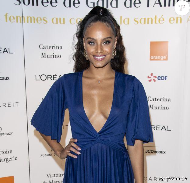 """Exclusif - Alicia Aylies (Miss France 2017) assiste à la soirée de gala de l'AMREF """"Les femmes au coeur de la santé en Afrique"""" au Pavillon Cambon Capucines à Paris, le 15 octobre 2019."""