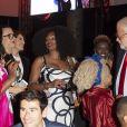 """Exclusif - Laura Flessel assiste à la soirée de gala de l'AMREF """"Les femmes au coeur de la santé en Afrique"""" au Pavillon Cambon Capucines à Paris, le 15 octobre 2019."""