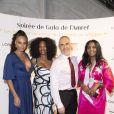 """Exclusif - Alicia Aylies (Miss France 2017), Laura Flessel, François Durpaire et Samira Ibrahim assistent à la soirée de gala de l'AMREF """"Les femmes au coeur de la santé en Afrique"""" au Pavillon Cambon Capucines à Paris, le 15 octobre 2019."""