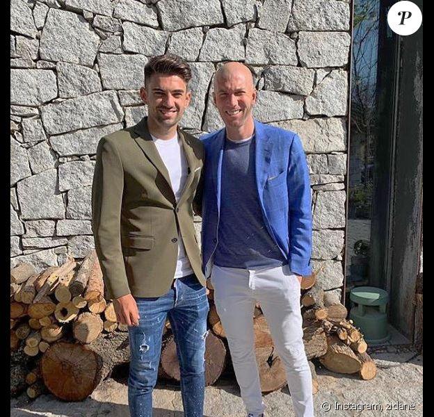 Enzo Zidane a fêté ses 24 ans avec son père Zinédine Zidane. Instagram, le 24 mars 2019.