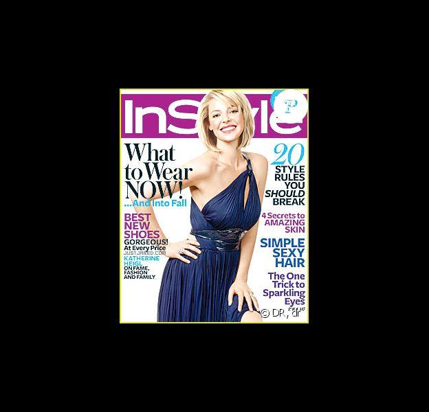 Katherine Heigl en couverture de In style pour le mois d'août 2009