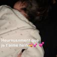 Kevin Guedj, épuisé par sa fille Ruby, sur Snapchat le 22 octobre 2019.