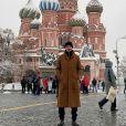 Gael, le petit ami d'Inès Vandamme, à Moscou, le 20 décembre 2017