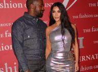 Kim Kardashian : Canon en robe argentée, avec son mari Kanye West