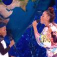 """Amel Bent et Soan - Finale de """"The Voice Kids 2019"""" sur TF1. Le 25 octobre 2019."""