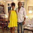 Le sprinteur jamaïcain Asafa Powell et sa femme le mannequin canadien Alyshia Miller (photo Instagram du 23 juin 2019, au Jamaica Inn lors de l'anniversaire d'Alyshia) ont eu en octobre 2019 leur premier enfant ensemble, un fils prénommé Amieke.