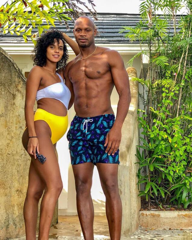 Le sprinteur jamaïcain Asafa Powell et sa femme le mannequin canadien Alyshia Miller (photo Instagram du 23 juin 2019) ont eu en octobre 2019 leur premier enfant ensemble, un fils prénommé Amieke.