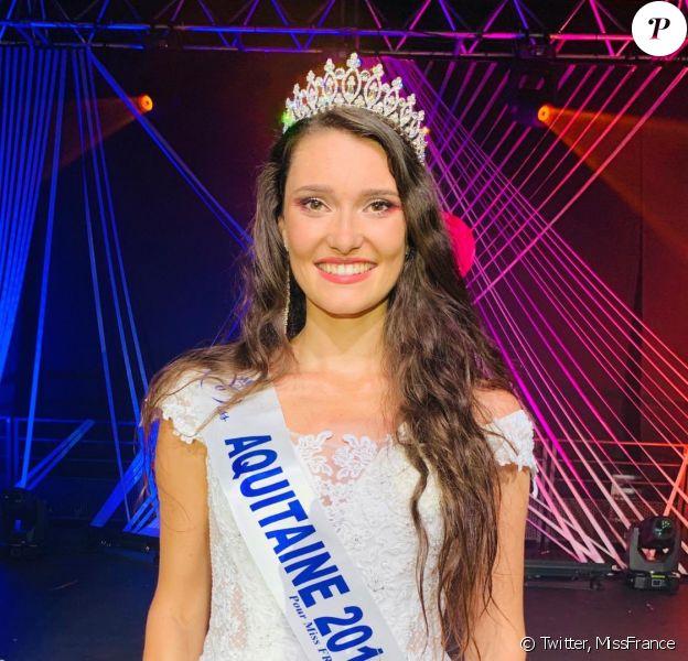 Justine Delmas élue Miss Aquitaine 2019, se présentera à l'élection de Miss France 2020, le 14 décembre 2019.