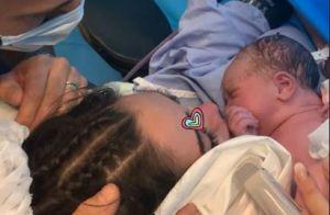Nabilla dévoile une émouvante photo de son fils juste après son accouchement