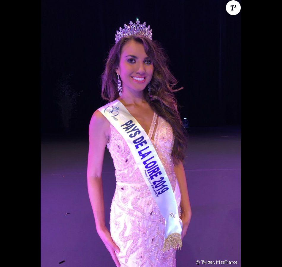 Yvana Cartaud, Miss Pays de La Loire 2019, se présentera à l'élection de Miss France 2020, le 14 décembre 2019.