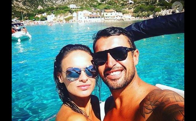 Géraldine Lapalus et son mari Julien, Instagram, 19 août 2016
