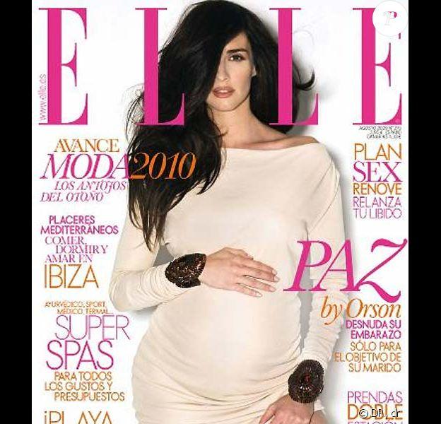 Paz Vega en couverture de Elle Espagne pour le mois d'août 2009