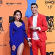 Georgina Rodriguez et son compagnon Cristiano Ronaldo assistent aux MTV European Music Awards 2019 au FIBES Conference and Exhibition Centre à Séville en Espagne, le 3 novembre 2019.