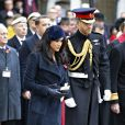 Le prince Harry, duc de Sussex, et Meghan Markle, duchesse de Sussex, assistent à une cérémonie d'hommage à tous ceux qui sont battus pour la Grande-Bretagne, à Westminster Abbey, le 7 novembre 2019, dans le cadre du 'Remembrance Day'.