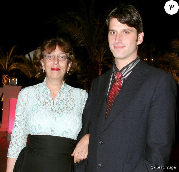 Anémone et son fils Jacobs à Monaco en 2005.