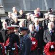 - La famille royale réunie pour le Remembrance Sunday Service, au Cénotaphe de Londres, le 10 novembre 2019.
