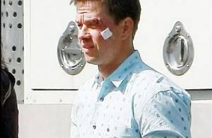 Mark Wahlberg avec le visage en sang... un boxeur plus vrai que nature !