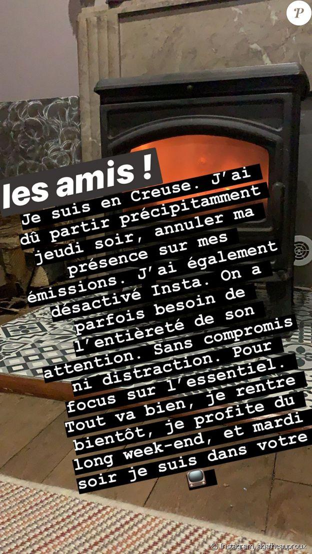 Agathe Auproux rassure ses fans- 10 novembre 2019.