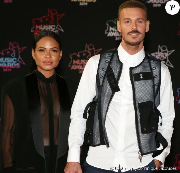 Christina Milian enceinte et son compagnon Matt Pokora (M. Pokora) - 21ème édition des NRJ Music Awards au Palais des festivals à Cannes le 9 novembre 2019. © Dominique Jacovides/Bestimage